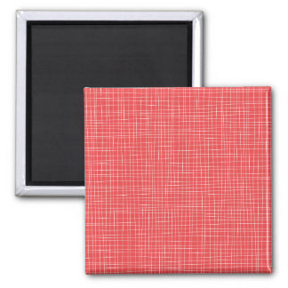 Rotes Kreuzschraffieren Quadratischer Magnet
