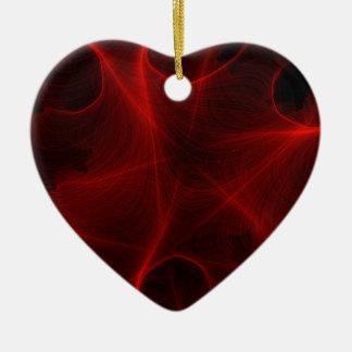 rotes Laser-Muster Keramik Ornament