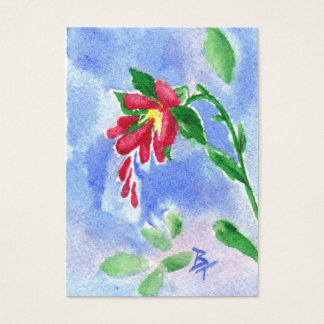 Rotes Liebe-Blume aceo Visitenkarte
