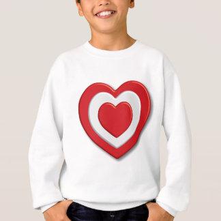 Rotes Liebeherz Sweatshirt