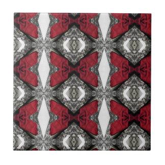 Rotes Linse-Muster Keramikfliese