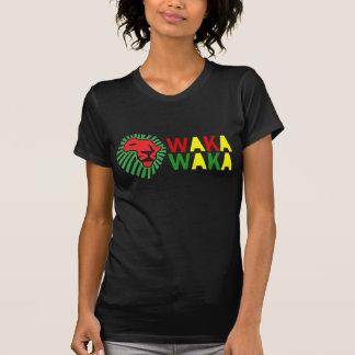 Rotes Löwe-Grün-Mähne Waka Waka Shirt
