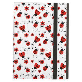 Rotes Mädchen Marienkäfer-Damen-Bug White Floral