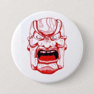 Rotes Masken-Abzeichen Runder Button 7,6 Cm