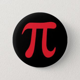 Rotes mathematisches Symbol PUs auf schwarzem Runder Button 5,1 Cm