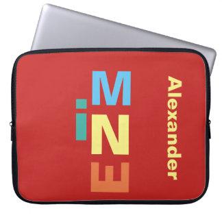 Rotes Mehrfarbenpersönliches Laptopschutzhülle