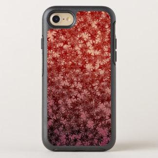 Rotes MetallNinja werfender Stern-metallischer OtterBox Symmetry iPhone 8/7 Hülle