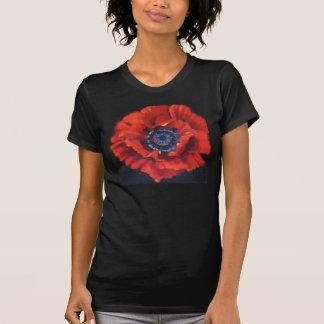 Rotes Mohnblumen-T-Shirt T-Shirt