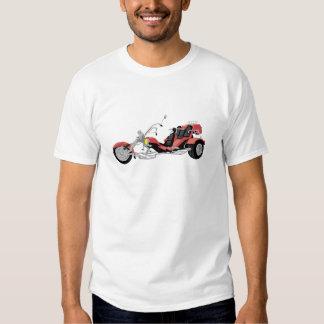 rotes Motorrad trike Shirt