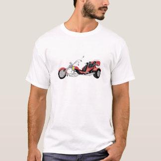 rotes Motorrad trike T-Shirt