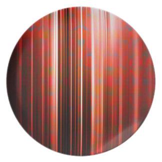 Rotes Muster der hellen Streifen Teller
