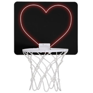 Rotes Neonherz - LiebeValentines Mini Basketball Ring