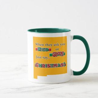 Rotes oder grünes Tassengrün Tasse