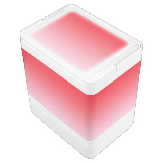 Rotes Ombre Igloo Kühlbox