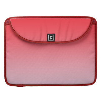 Rotes Ombre MacBook Pro Sleeve