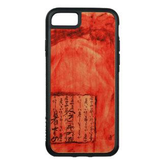 Rotes orange klares beunruhigtes Skript-Aquarell Carved iPhone 8/7 Hülle
