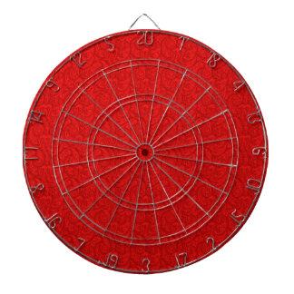Rotes Paisley Dartscheibe