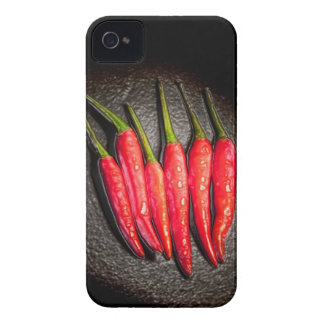 Rotes Paprika-Paprikaschoten-BlackBerry-mutiger iPhone 4 Cover