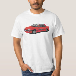 Rotes Peugeot 405 T-Shirt