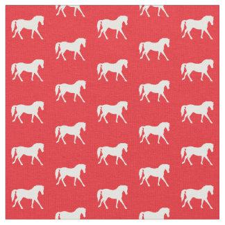 Rotes Pferdegewebe, das Gewebe des Mädchens, Stoff
