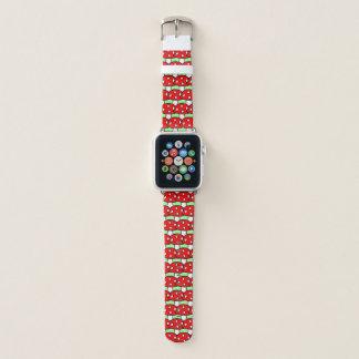 Rotes Pilz-Apple-Uhrenarmband Apple Watch Armband