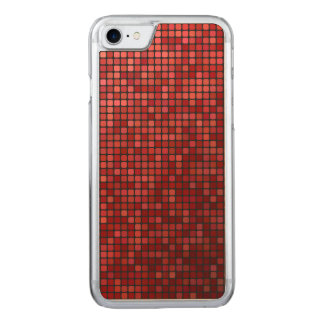 Rotes Pixelmosaik Carved iPhone 8/7 Hülle