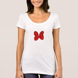 Rotes Polka-Punkt-Bogen-Shirt T-Shirt
