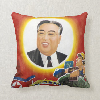 Rotes Porträt-Kissen Kim Il-sung Kissen