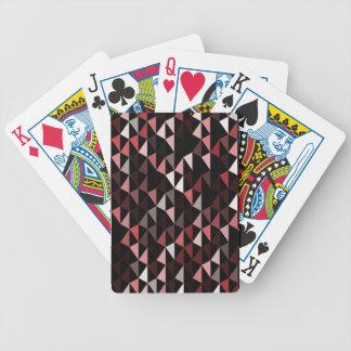 rotes Pyramidemuster 02 Poker Karten