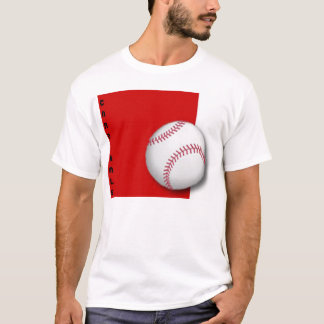 rotes Quadrat des Baseballs, KARDINÄLE T-Shirt