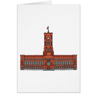 Rotes Rathaus Berlin Grußkarte