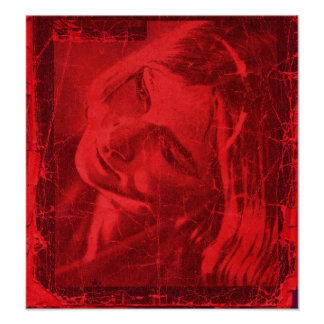 Rotes Reflexions-Plakat