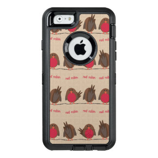 Rotes Robin-Muster OtterBox iPhone 6/6s Hülle