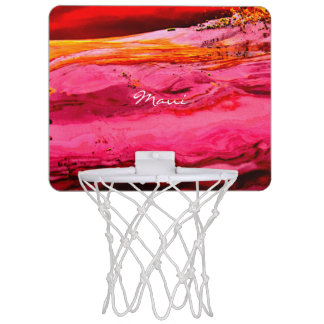 rotes/rosa Maui bewegt Thunder_Cove wellenartig Mini Basketball Netz