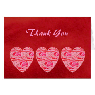 Rotes Samt-Herz der Rosen, danke Karte