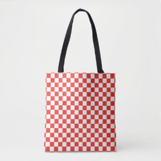 Rotes Schachbrett Tasche