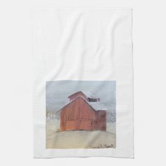 Rotes Scheunen-Geschirrtuch Handtuch