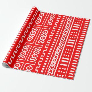 Rotes Schlamm-Stoff-Muster Geschenkpapier