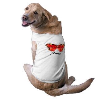Rotes Schmetterling Aquarell-Hündchen-gewelltes Top