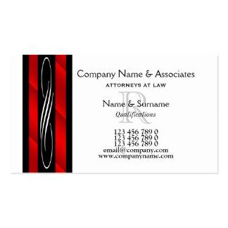 Rotes Schwarz-weißes des Rechtsanwaltrechtsanwalts Visitenkarten