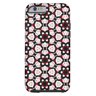 Rotes Schwarz-weißes geometrisches Tough iPhone 6 Hülle
