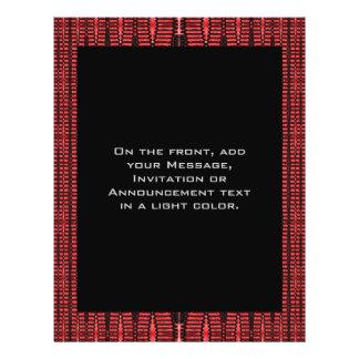 rotes schwarzes abstraktes 21,6 x 27,9 cm flyer