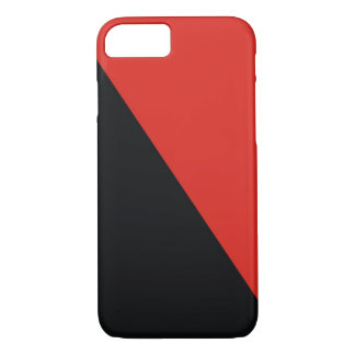 rotes Schwarzes der Anarchieflagge iPhone 8/7 Hülle