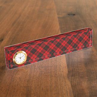 Rotes schwarzes kariertes Brodie Clan Tartan Schreibtischplakette