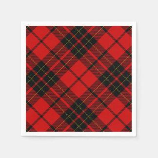Rotes schwarzes kariertes Brodie Clan Tartan Serviette