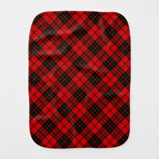 Rotes schwarzes kariertes Brodie Clan Tartan Spucktuch