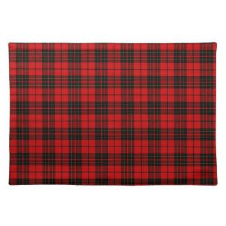 Rotes schwarzes kariertes Brodie Clan Tartan Tischset