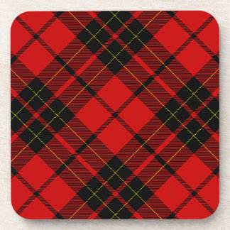 Rotes schwarzes kariertes Brodie Clan Tartan Untersetzer