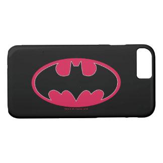 Rotes schwarzes Logo Batman-Symbol-| iPhone 8/7 Hülle