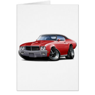 Rotes schwarzes Spitzenauto 1970-72 Buicks GS Karte